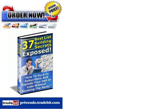 Product picture 37 Most Profitable Opt-in List Building Secrets
